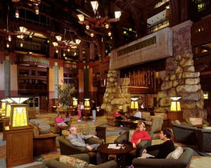 Disney's Grand Californian Hotel & Spa lobby.  Photo courtesy of Disney.