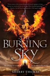 "Cover photo of ""The Burning Sky"" by Sherry Thomas, courtesy of Balzer + Bray."