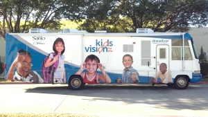 Kids Vision for Life mobile clinic. Photo courtesy of Kids Vision for Life.